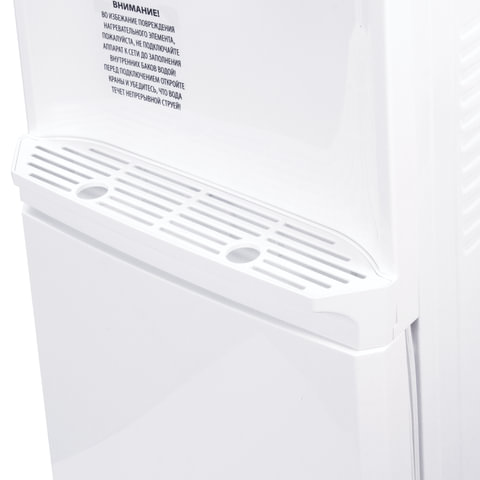Кулер для воды SONNEN FS-03, напольный, нагрев/компрессорное охлаждение, шкаф, 2 крана, белый